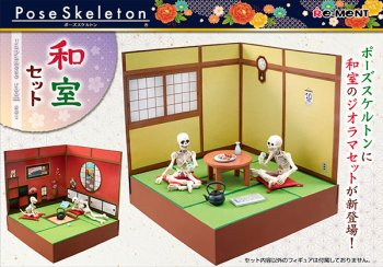RE-MENT Dollhouse Miniature Pose Skeleton Japanese Room