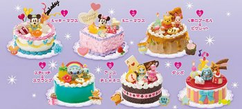 Re-ment Miniatures Disney Party Happy Birthday Cake Set of 6