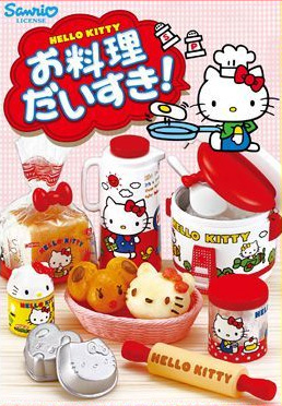 Re-ment Sanrio Dollhouse Hello Kitty Miniature Cooking kitchen - Click Image to Close