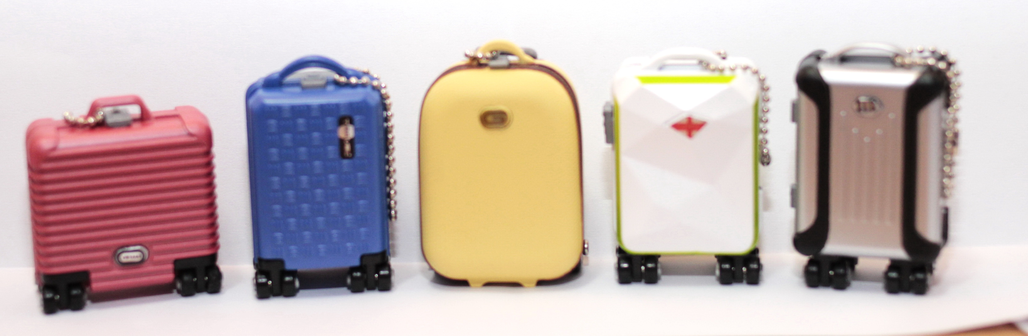 Japan Yujin Miniature My mini Luggage / suit case set of 5 - Click Image to Close
